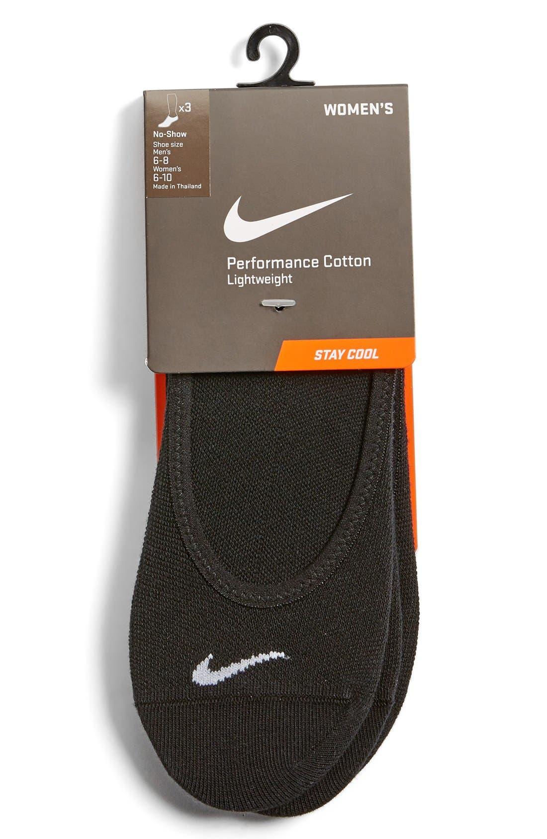 Main Image - Nike 3-Pack No-Show Socks