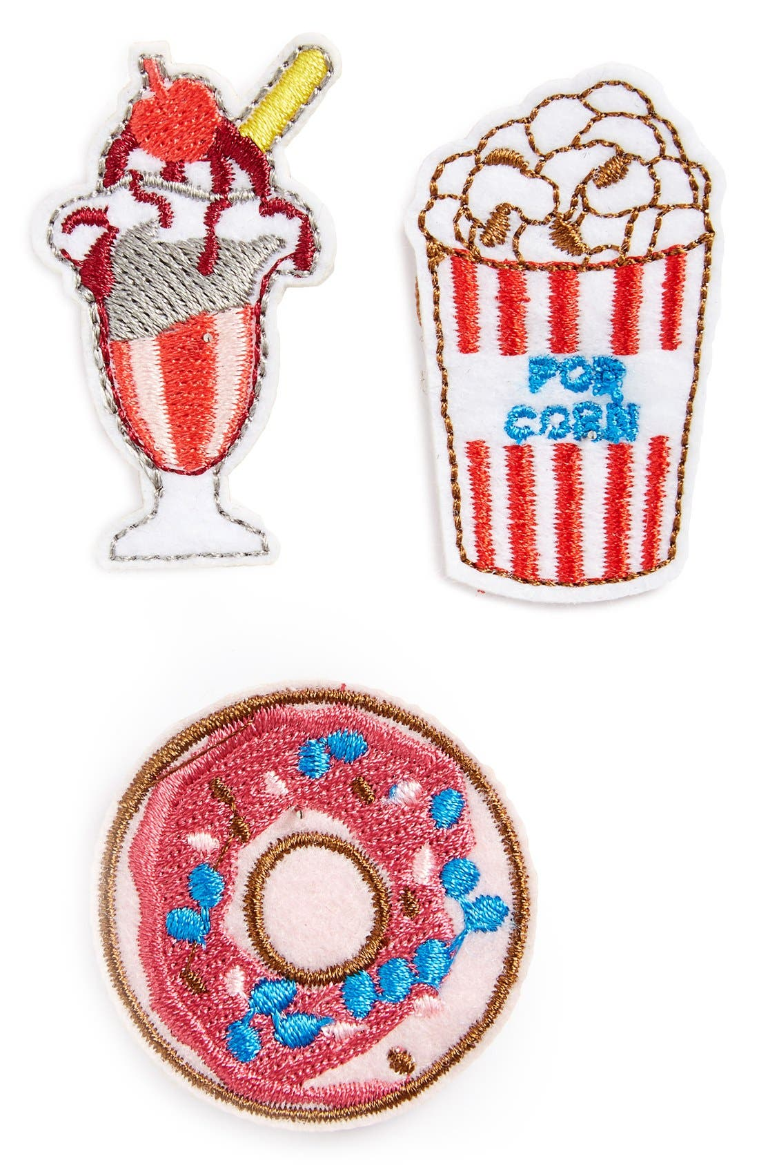 Alternate Image 1 Selected - Topshop Mixed Treats Brooches (Set of 3)