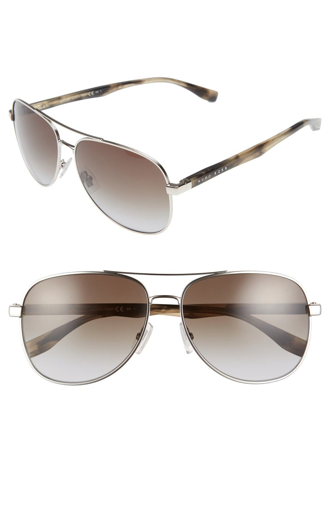 BOSS '0700/S' 60mm Aviator Sunglasses
