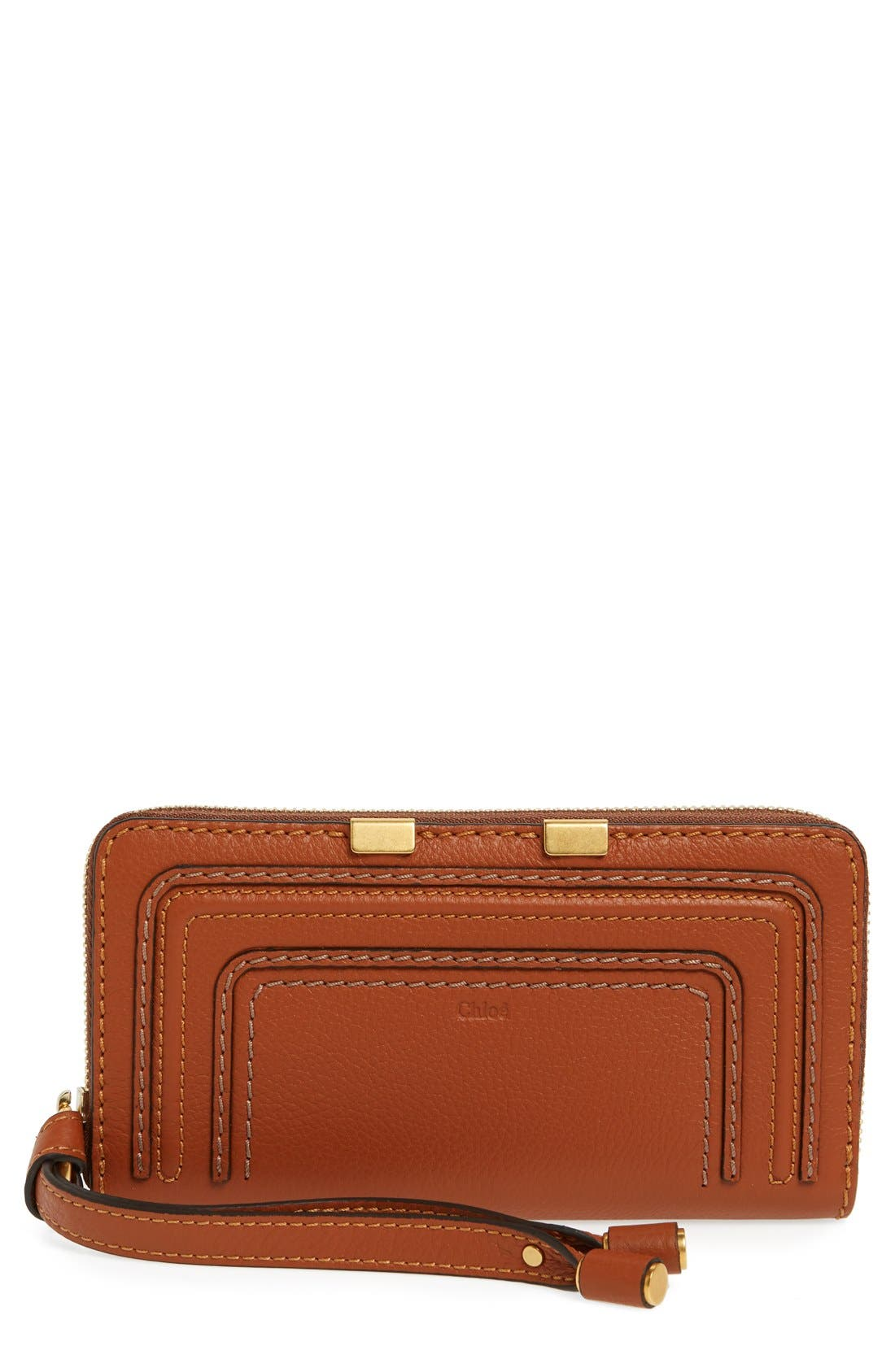 CHLOÉ 'Marcie' Leather Phone Wristlet