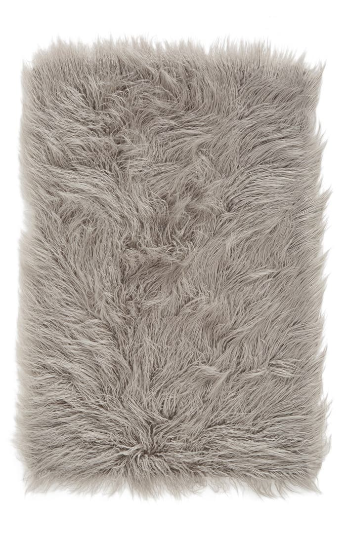 Nordstrom At Home Mongolian Faux Fur Area Rug Nordstrom