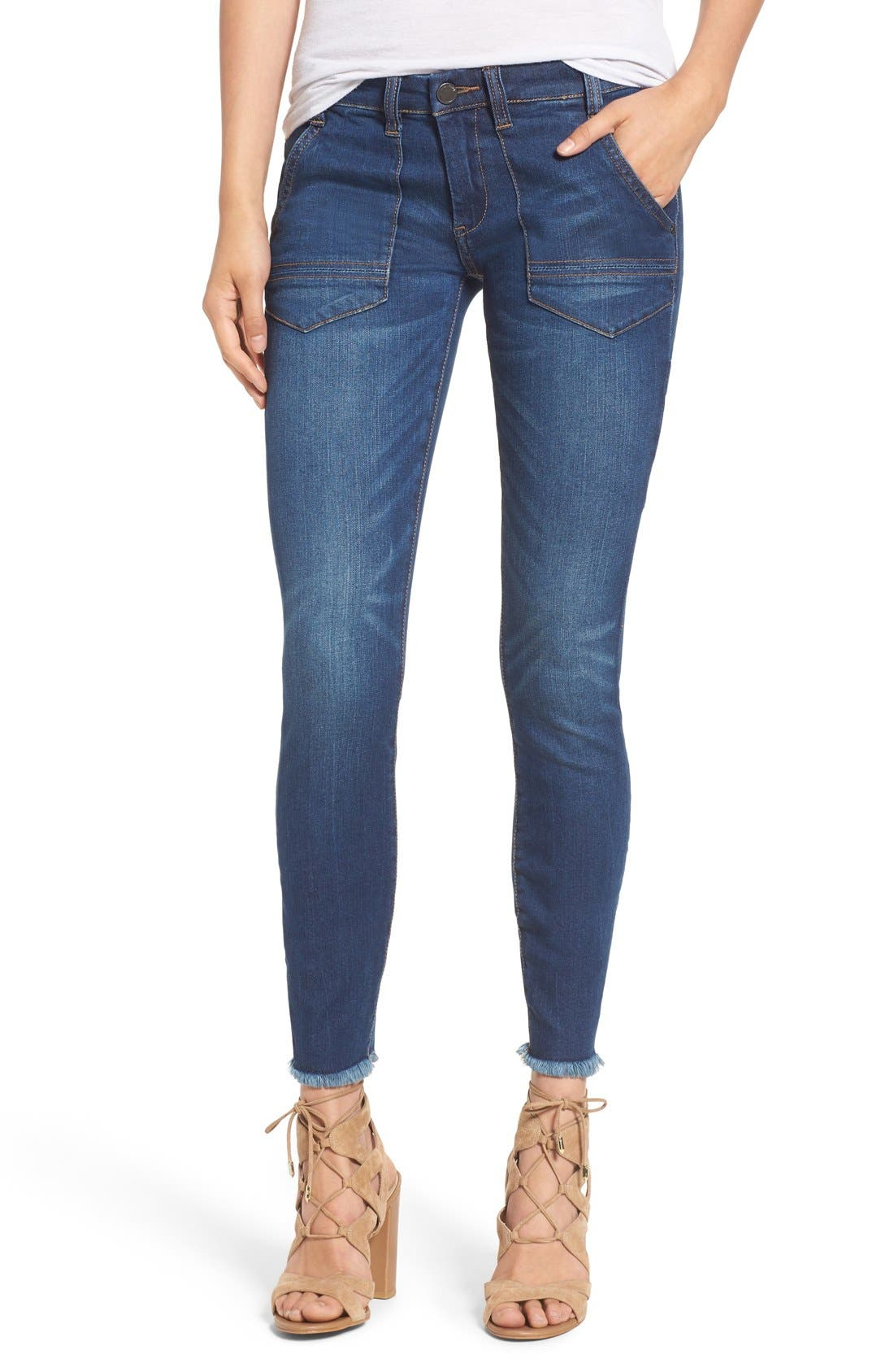 Main Image - BLANKNYC Utility Skinny Jeans (Buffering)