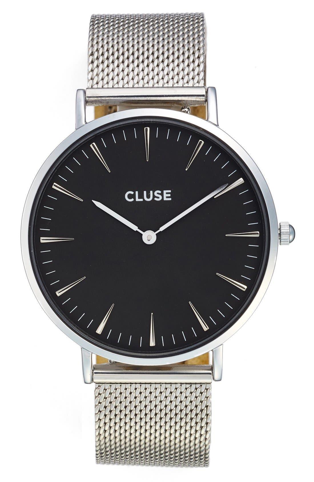 CLUSE 'La Bohème' Mesh Strap Watch, 38mm