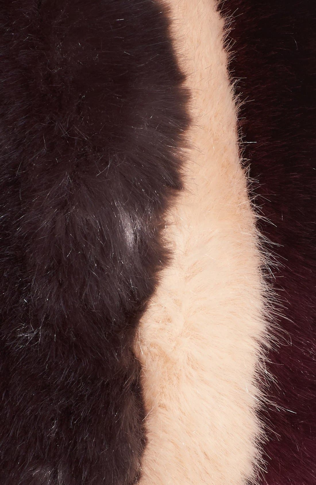 Alternate Image 4  - Ted Baker London Stripe Faux Fur Scarf