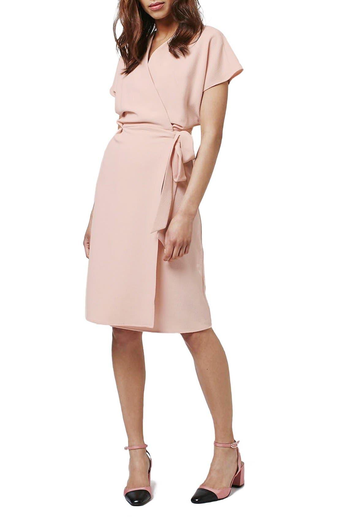 Alternate Image 1 Selected - Topshop Crepe Wrap Dress