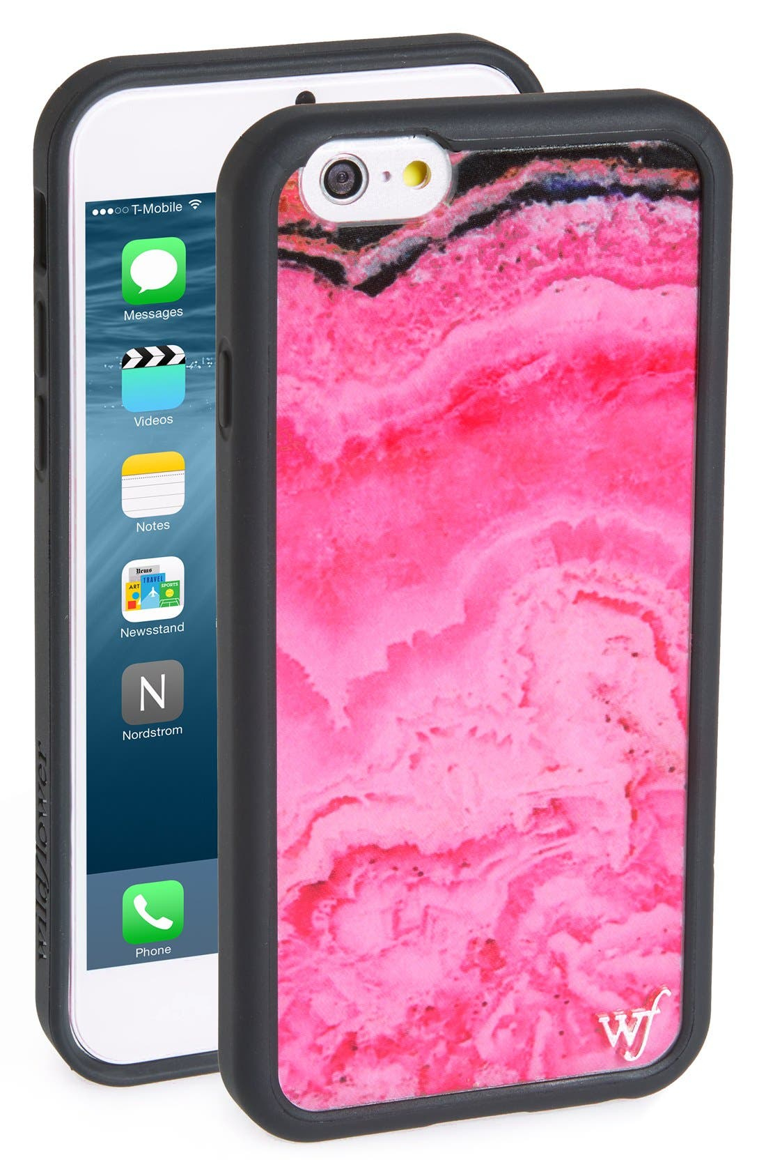 Alternate Image 1 Selected - Wildflower Pink Stone iPhone 6/6s Case
