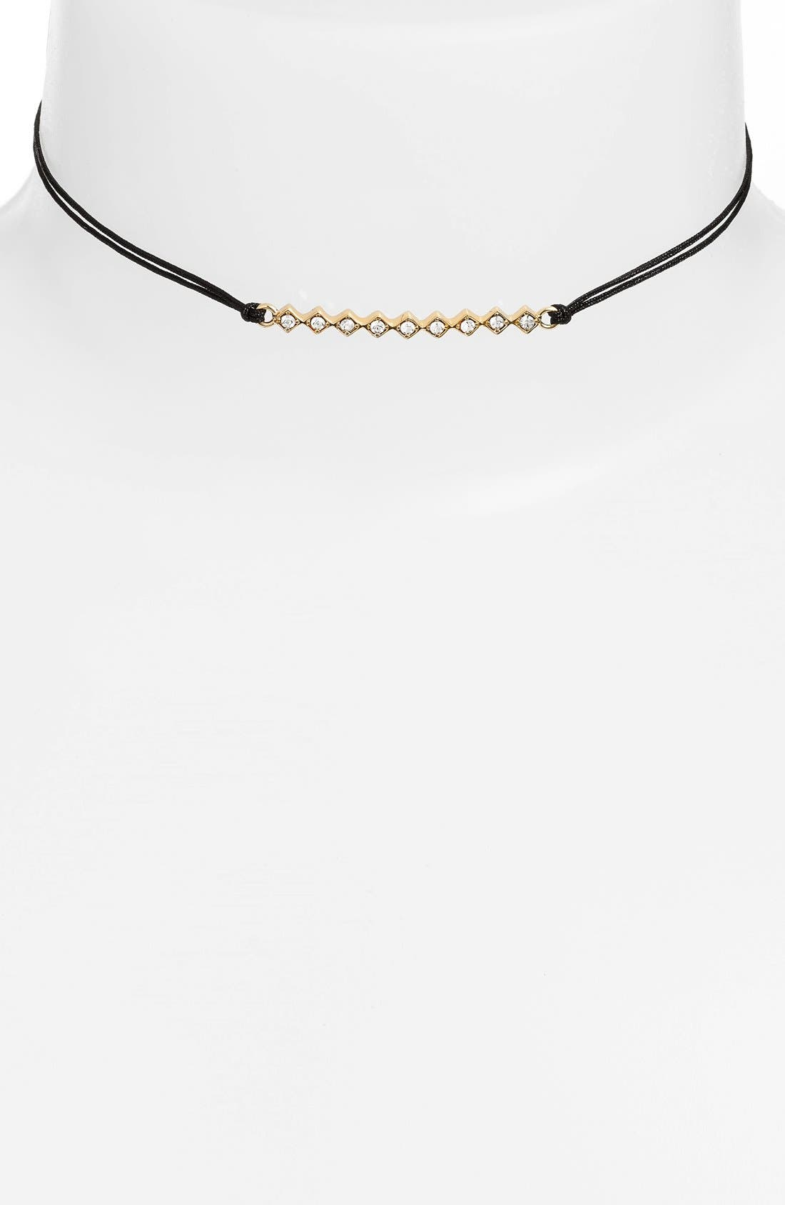 JULES SMITH 'Tulum' Crystal Bar Pendant Choker