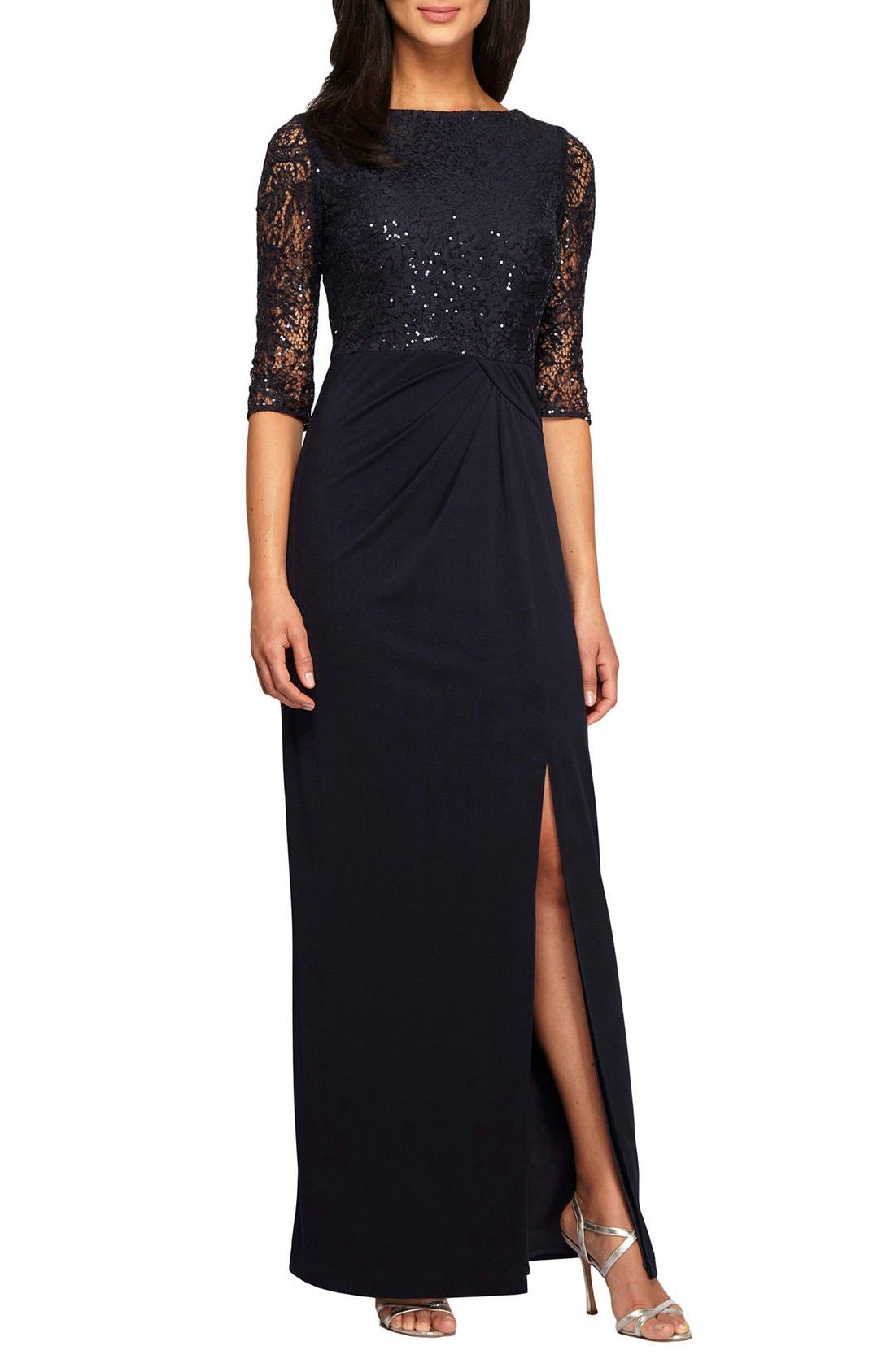 Alternate Image 1 Selected - Alex Evenings Sequin Gown