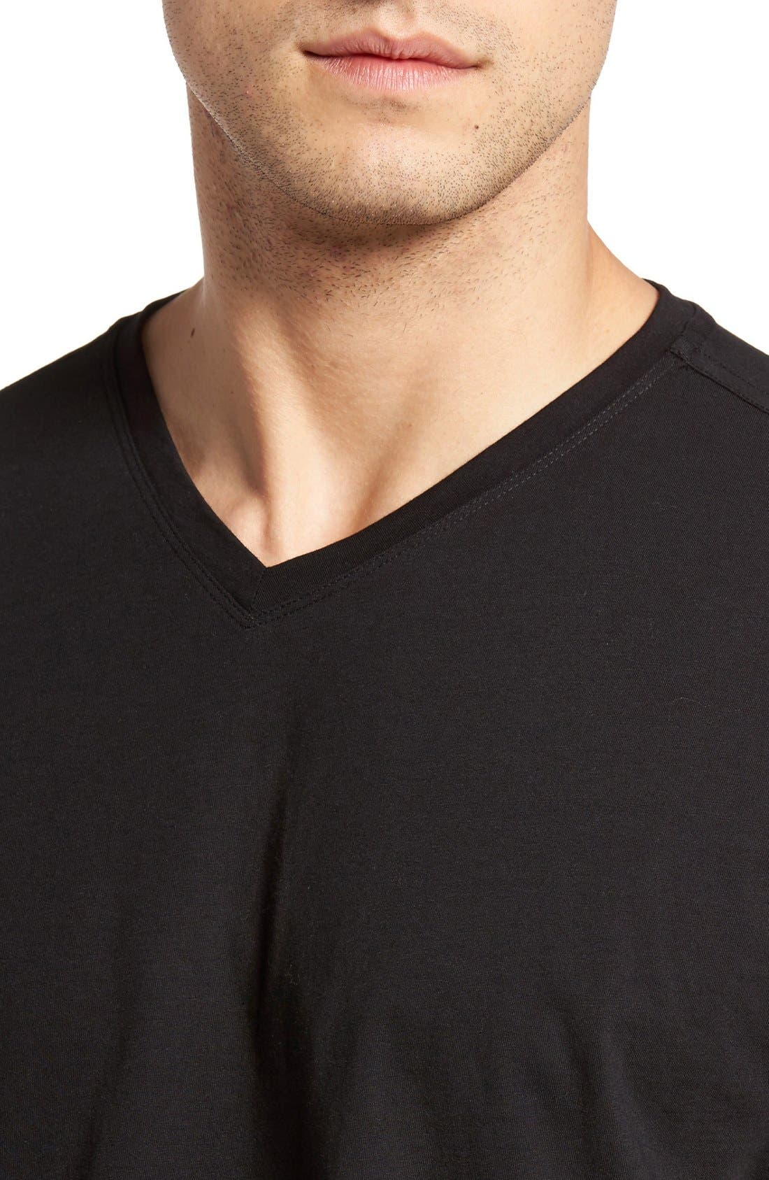 Alternate Image 4  - Cutter & Buck 'Sida' V-Neck T-Shirt (Big & Tall)