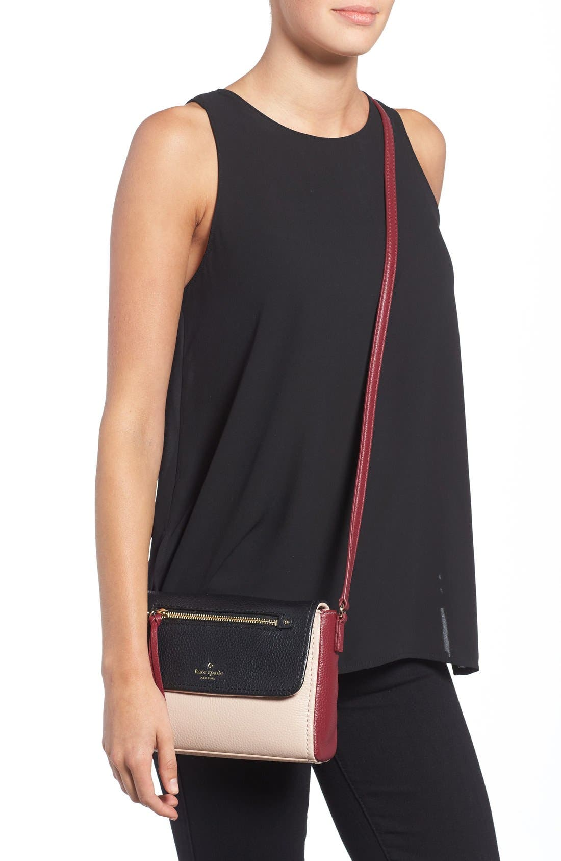 Alternate Image 2  - kate spade new york 'cobble hill - mini toddy' leather crossbody bag