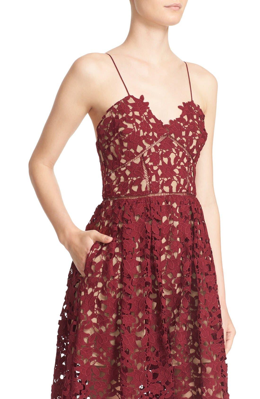 Alternate Image 4  - Self-Portrait 'Azaelea' Lace Fit & Flare Dress