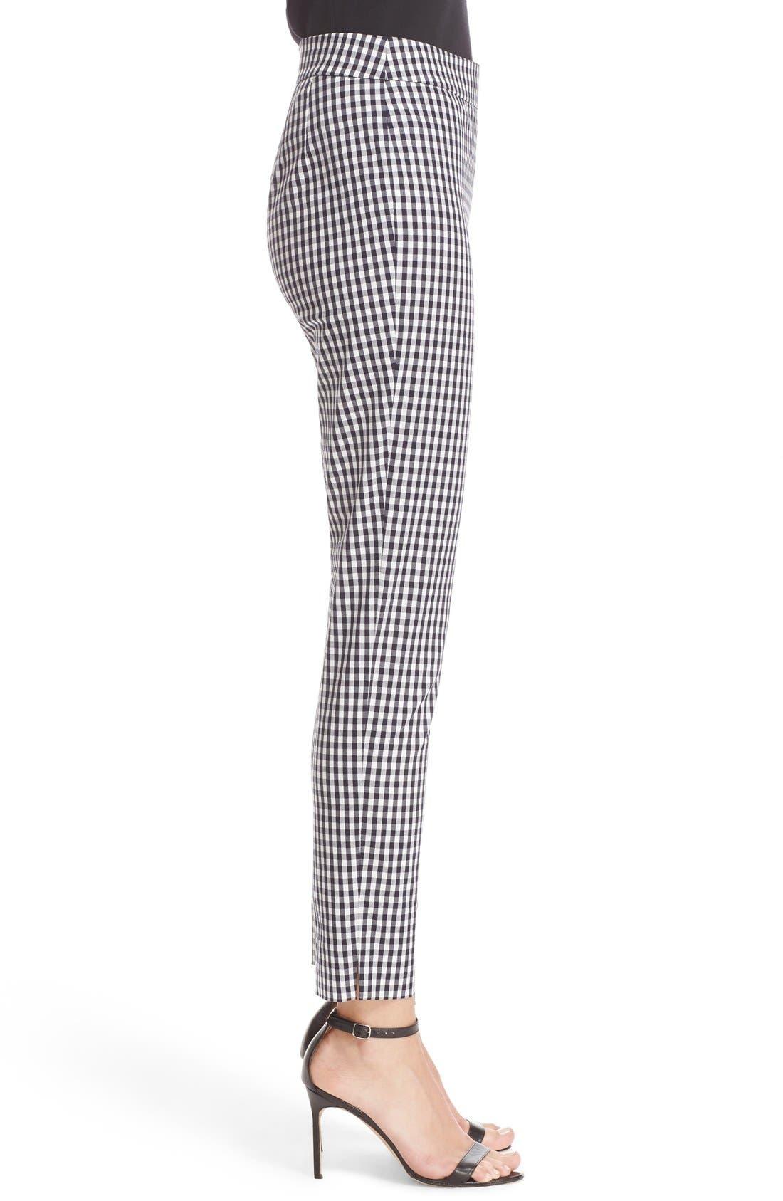 Alternate Image 5  - St. John Collection 'Emma' Stretch Gingham Slim Leg Pants