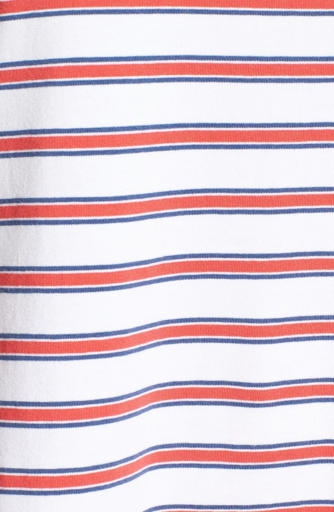 Alternate Image 5  - Vineyard Vines Stripe Knit Stretch Cotton Shirtdress