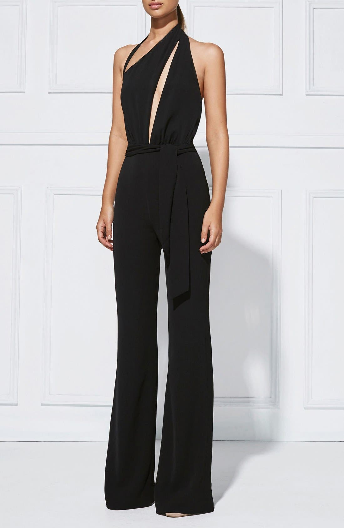 Alternate Image 7  - Misha Collection 'Caprice' Cutout Halter Jumpsuit