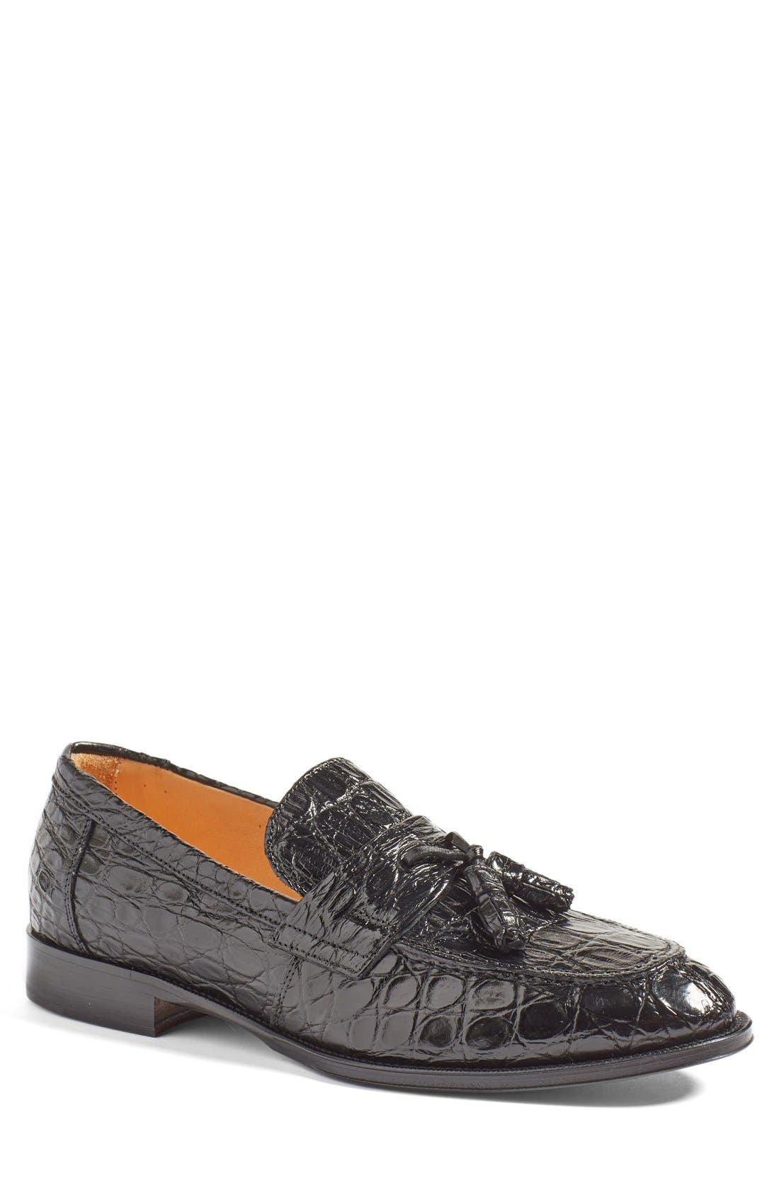 Zelli 'Como' Genuine Crocodile Tassel Loafer (Men)