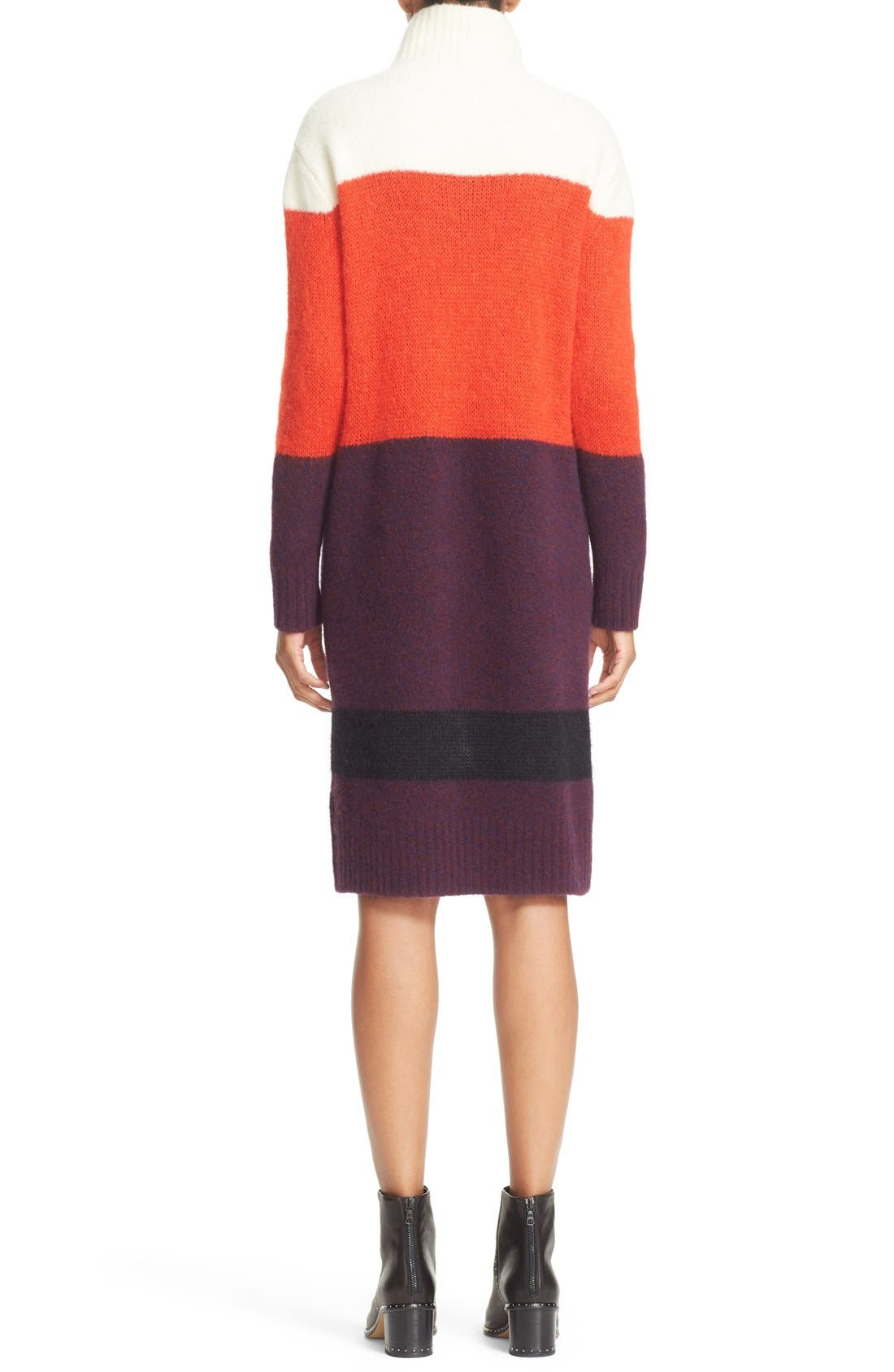 Alternate Image 2  - rag & bone 'Britton' Stripe Wool Blend Sweater Dress