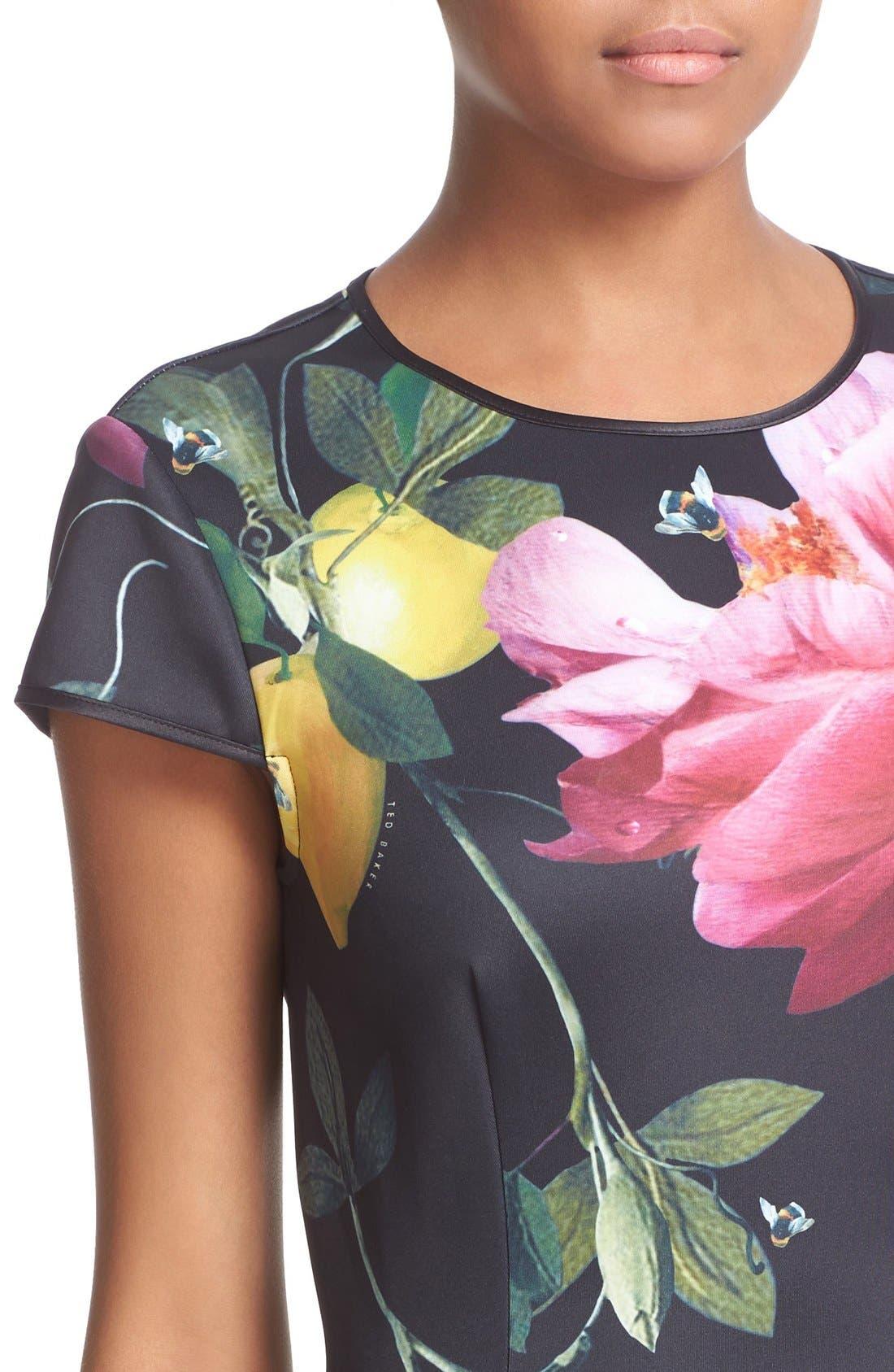 Alternate Image 4  - Ted Baker London 'Allisia' Print Skater Dress