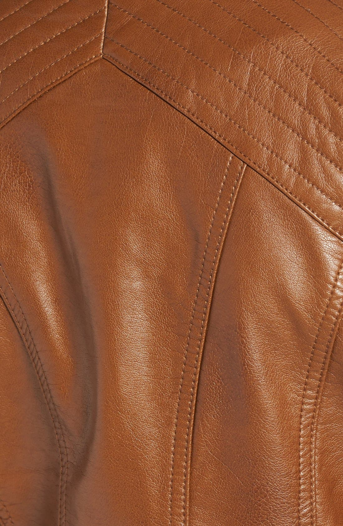 Alternate Image 5  - Jessica Simpson Quilted Faux Leather Jacket