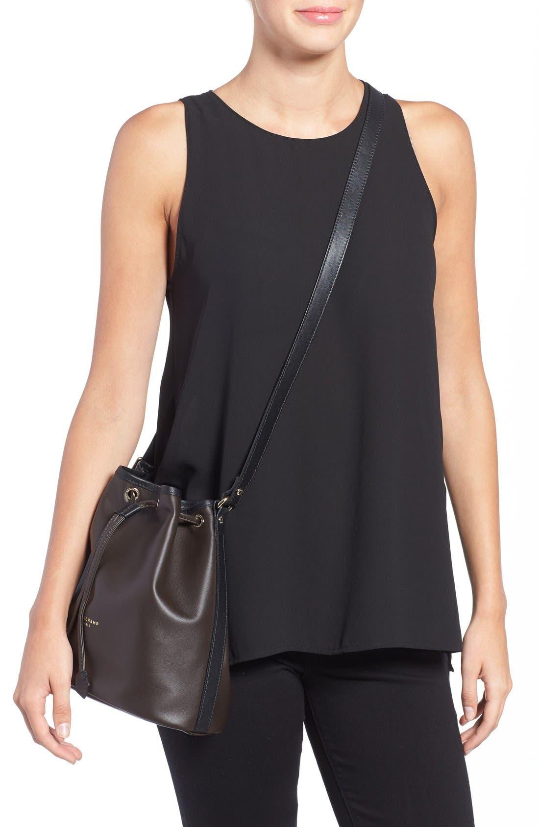 Alternate Image 2  - Longchamp 'Small 2.0' Leather Bucket Bag