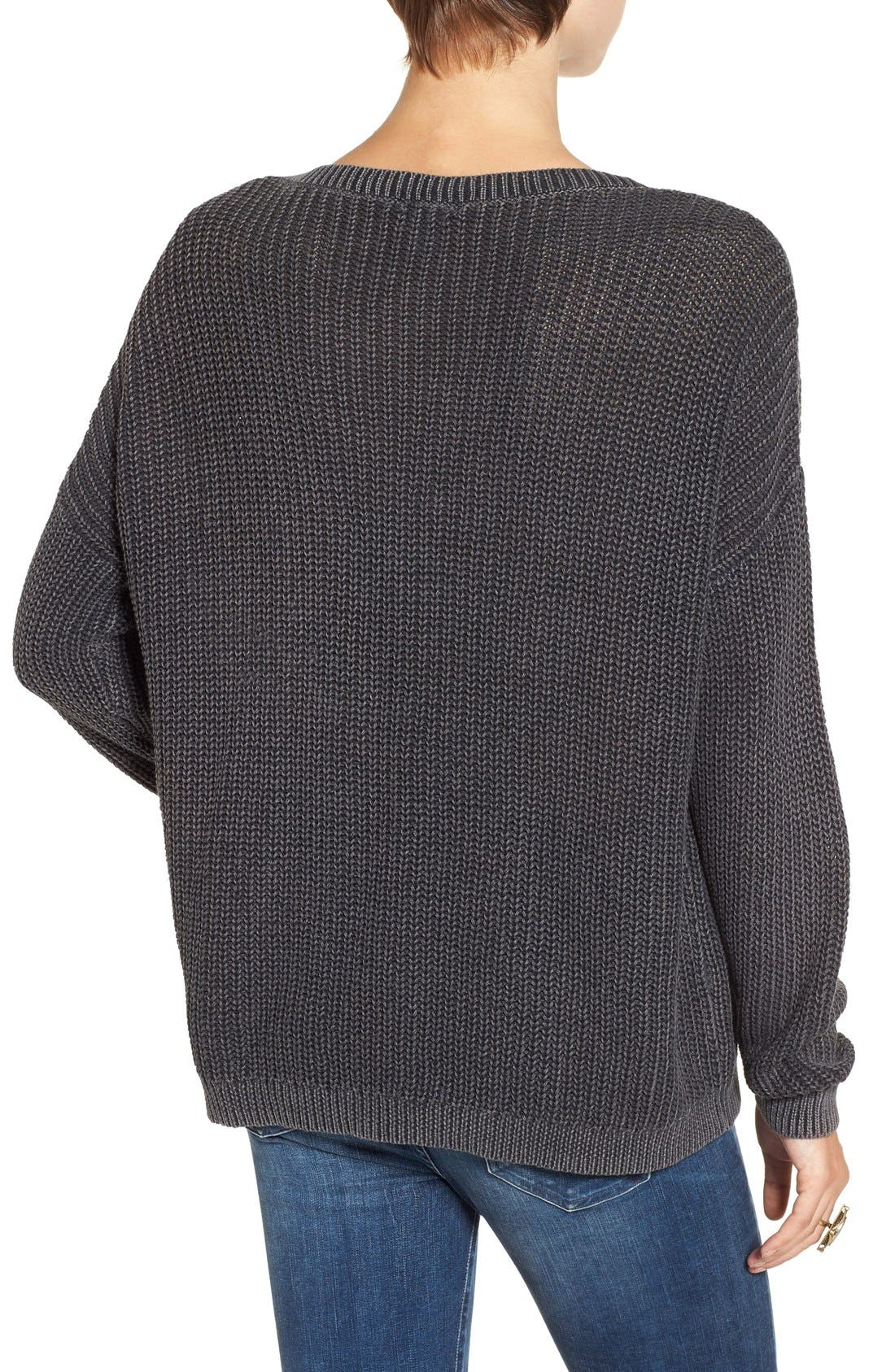 Alternate Image 2  - BP. V-Neck Cable Knit Pullover