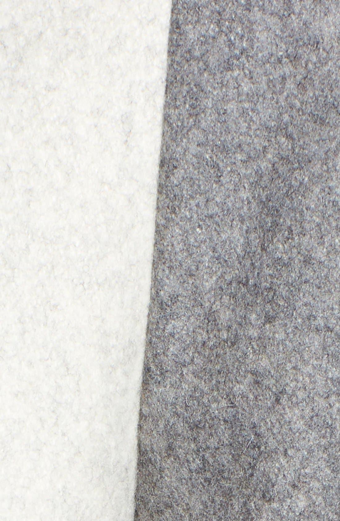 Alternate Image 5  - Gallery 'Puzzle' Wool Blend Hooded Colorblock Coat