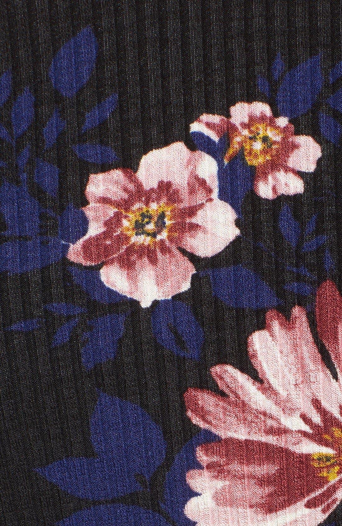 Alternate Image 5  - Lush Off the Shoulder Floral Print Dress