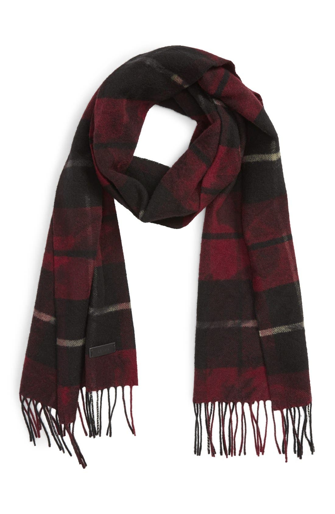 Alternate Image 1 Selected - Lanvin Plaid Wool Scarf