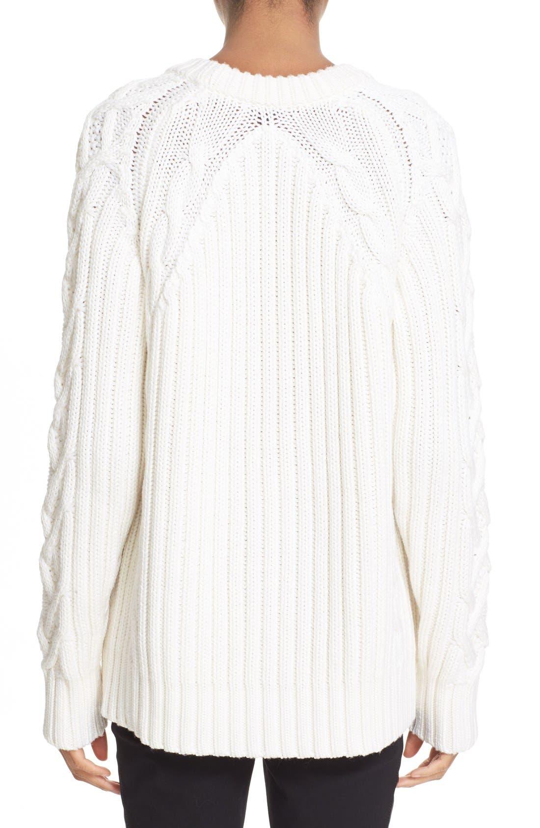 Alternate Image 2  - rag & bone 'Kiera' Cable Knit Crewneck Sweater