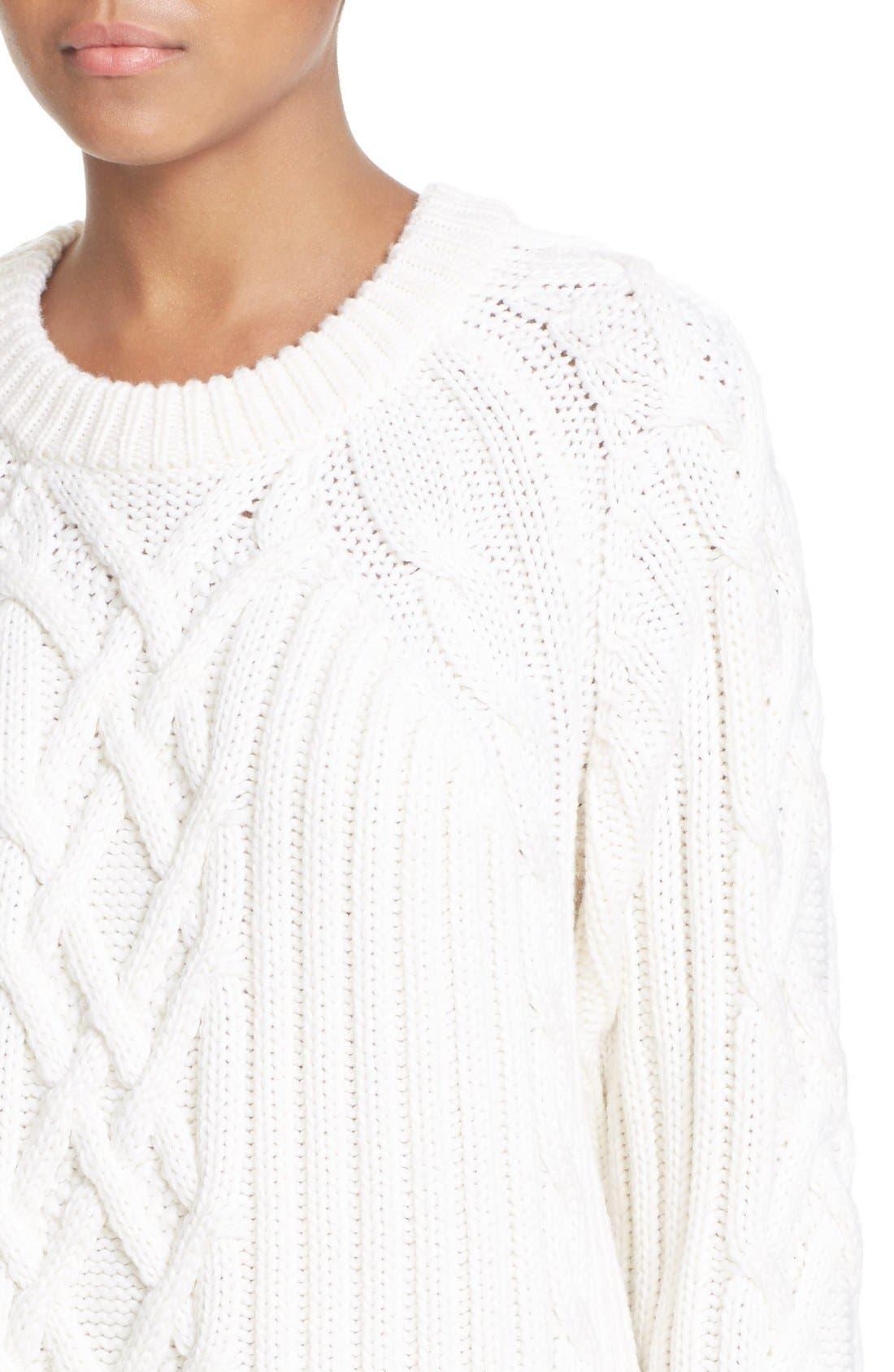 Alternate Image 4  - rag & bone 'Kiera' Cable Knit Crewneck Sweater