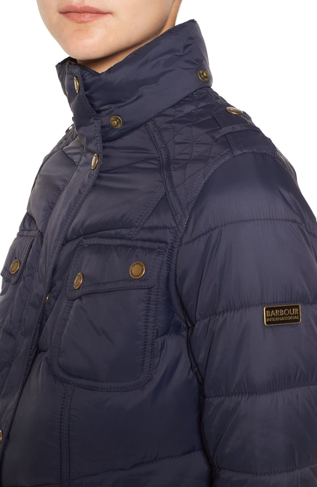 Alternate Image 5  - Barbour 'Circlip' Water Resistant Quilted Coat