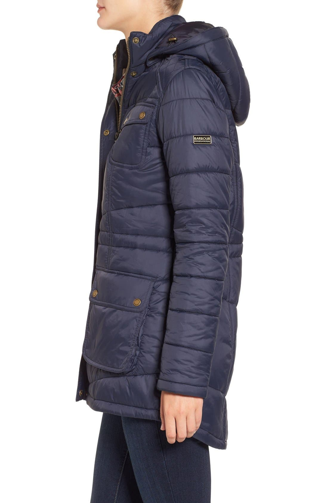 Alternate Image 4  - Barbour 'Circlip' Water Resistant Quilted Coat