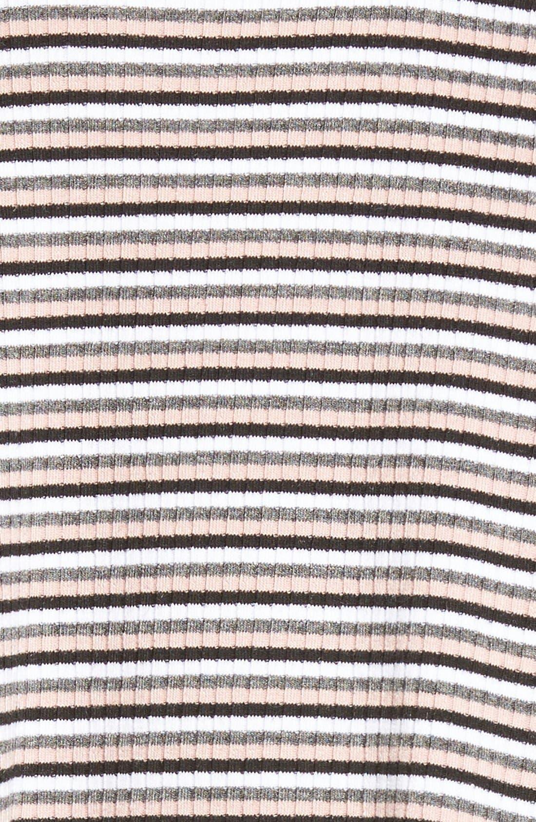 Alternate Image 5  - dee elle Stripe Rib Knit Swing Dress