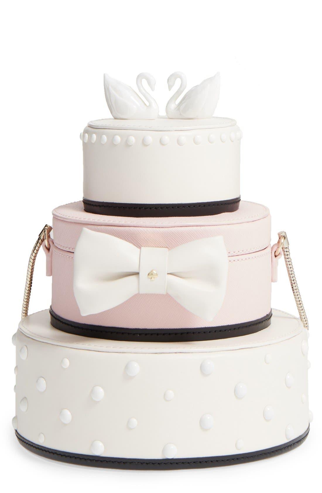 Alternate Image 1 Selected - kate spade new york 'wedding belles - cake' leather handbag