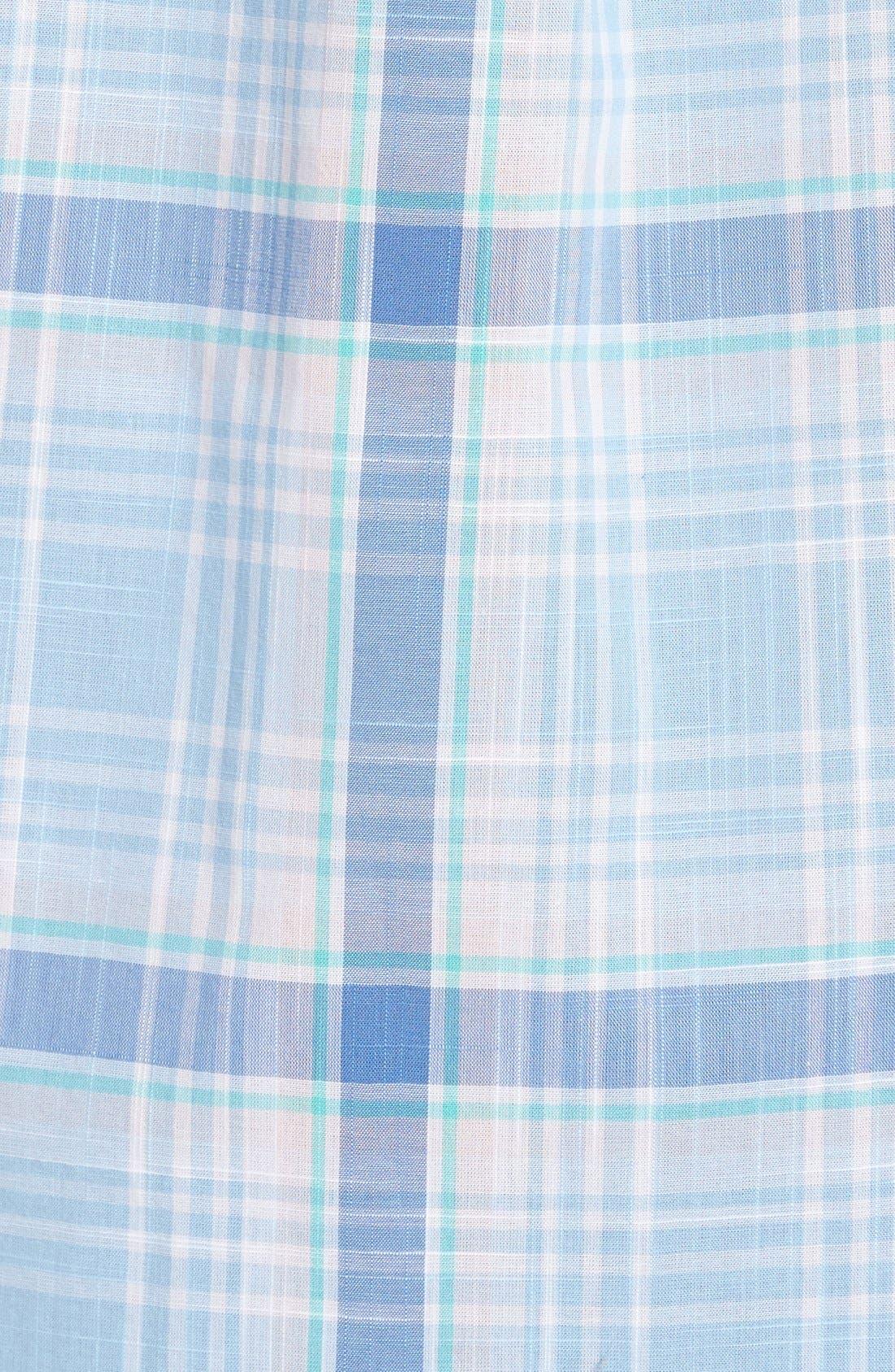 Alternate Image 5  - Vineyard Vines 'Hamblin - Tucker' Regular Fit Plaid Sport Shirt