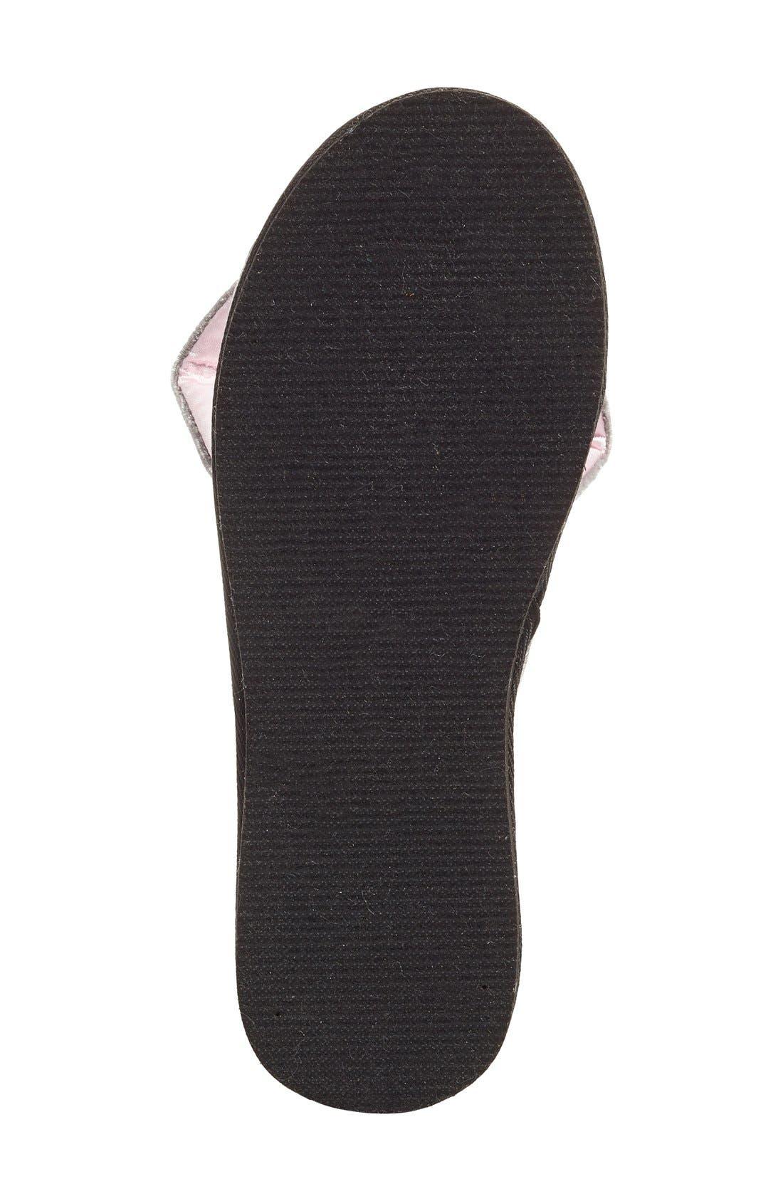 Alternate Image 4  - kate spade new york 'bonnie - bunny' velvet slipper (Women)