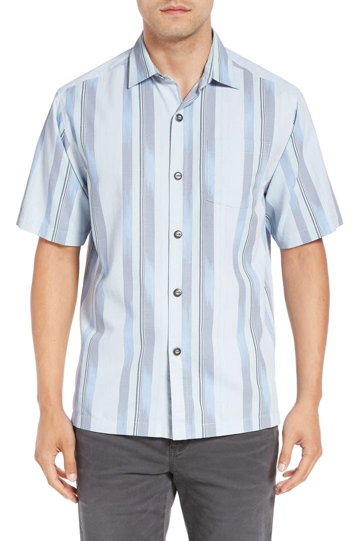 Tommy Bahama 39 Rumway Stripe 39 Silk Cotton Camp Shirt Big