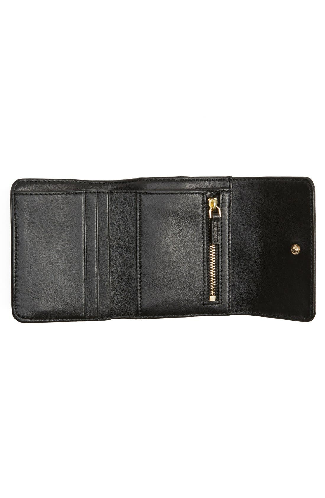 Alternate Image 2  - Tory Burch 'Mini Fleming' Quilted Lambskin Leather Wallet