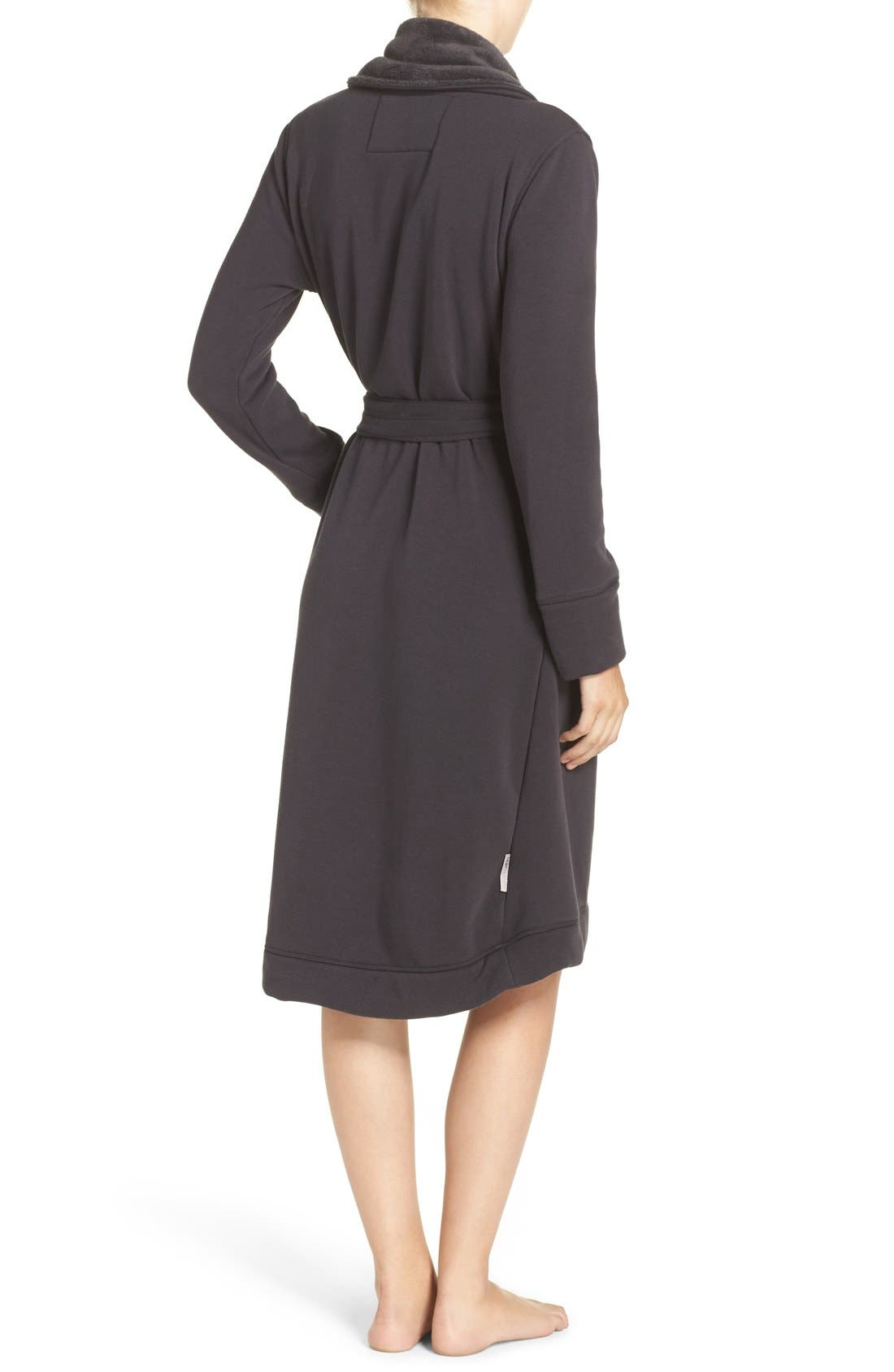 Alternate Image 3  - UGG® Duffield Double Knit Robe