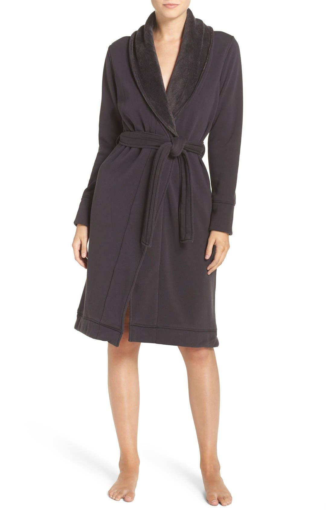 Alternate Image 1 Selected - UGG® Duffield Double Knit Robe