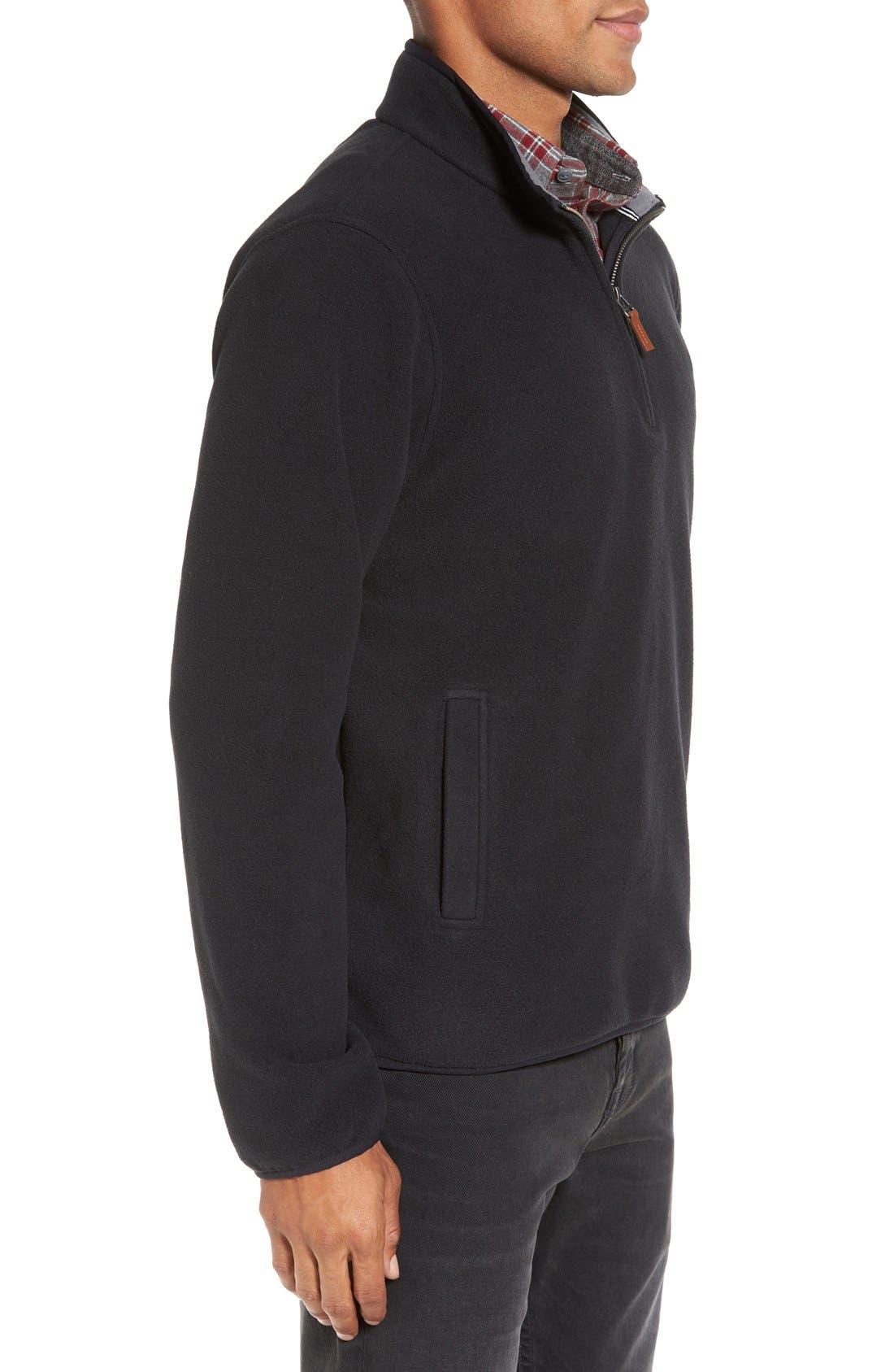 Alternate Image 3  - Nordstrom Men's Shop Polar Fleece Quarter Zip Pullover (Regular & Tall)