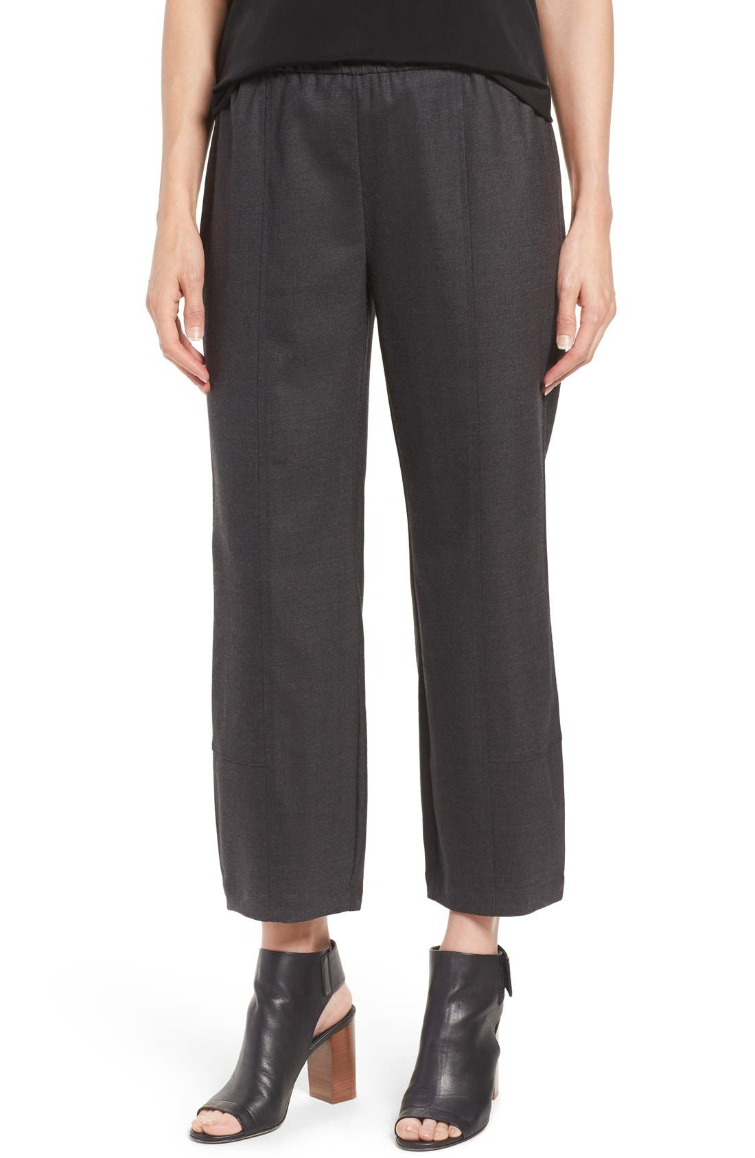 Main Image - Eileen Fisher Stretch Flannel Twill Ankle Pants