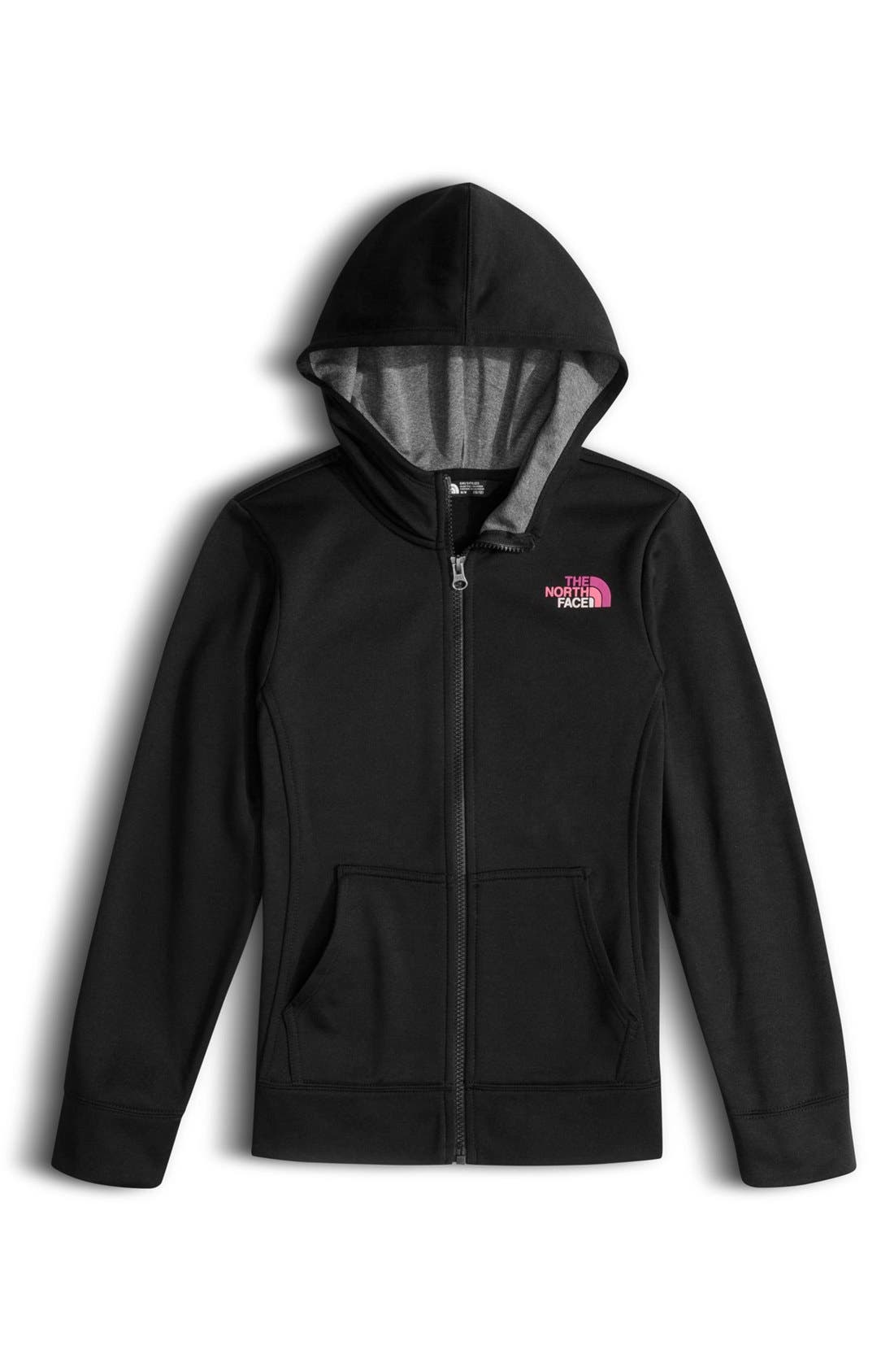 Main Image - The North Face Surgent Technical Fleece Hoodie (Big Girls)