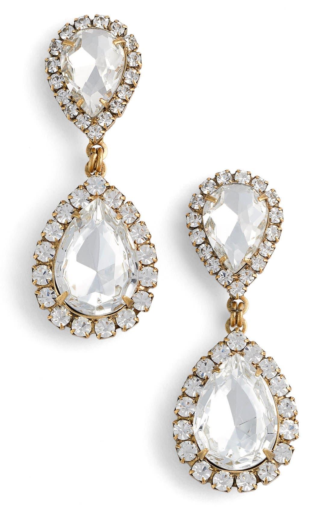 Loren Hope Crystal Drop Earrings