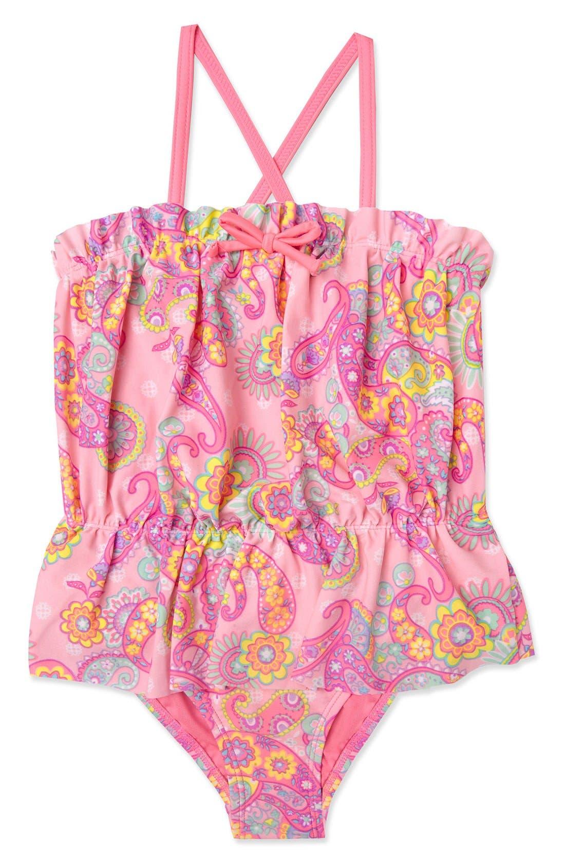 Hula Star 'Enchanted Paisley' One-Piece Swimsuit (Toddler Girls & Little Girls)