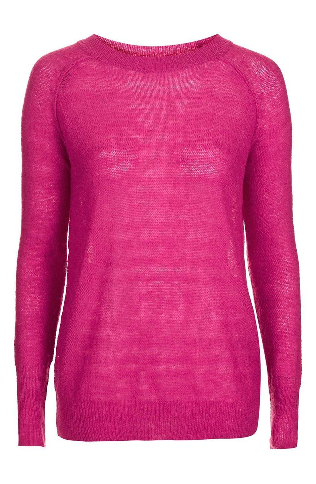 Alternate Image 4  - Topshop Fine Knit Raglan Sweater