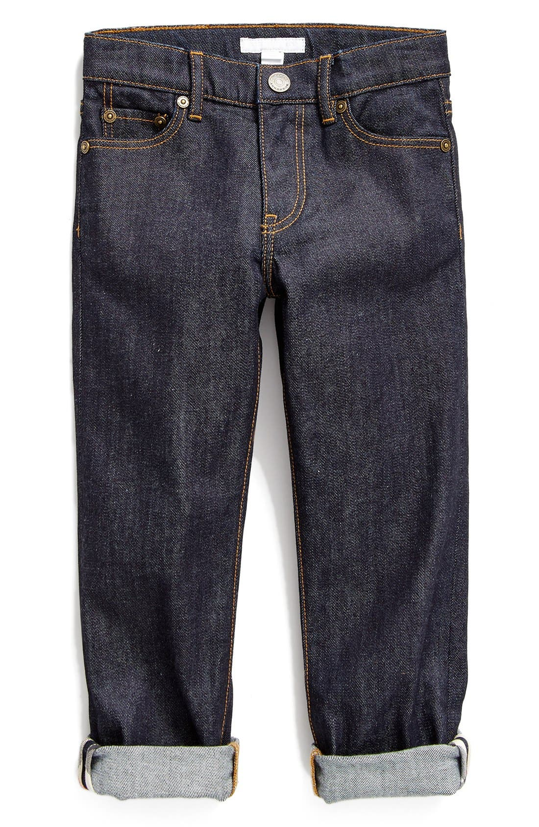 Alternate Image 1 Selected - Burberry Skinny Fit Jeans (Little Boys & Big Boys)