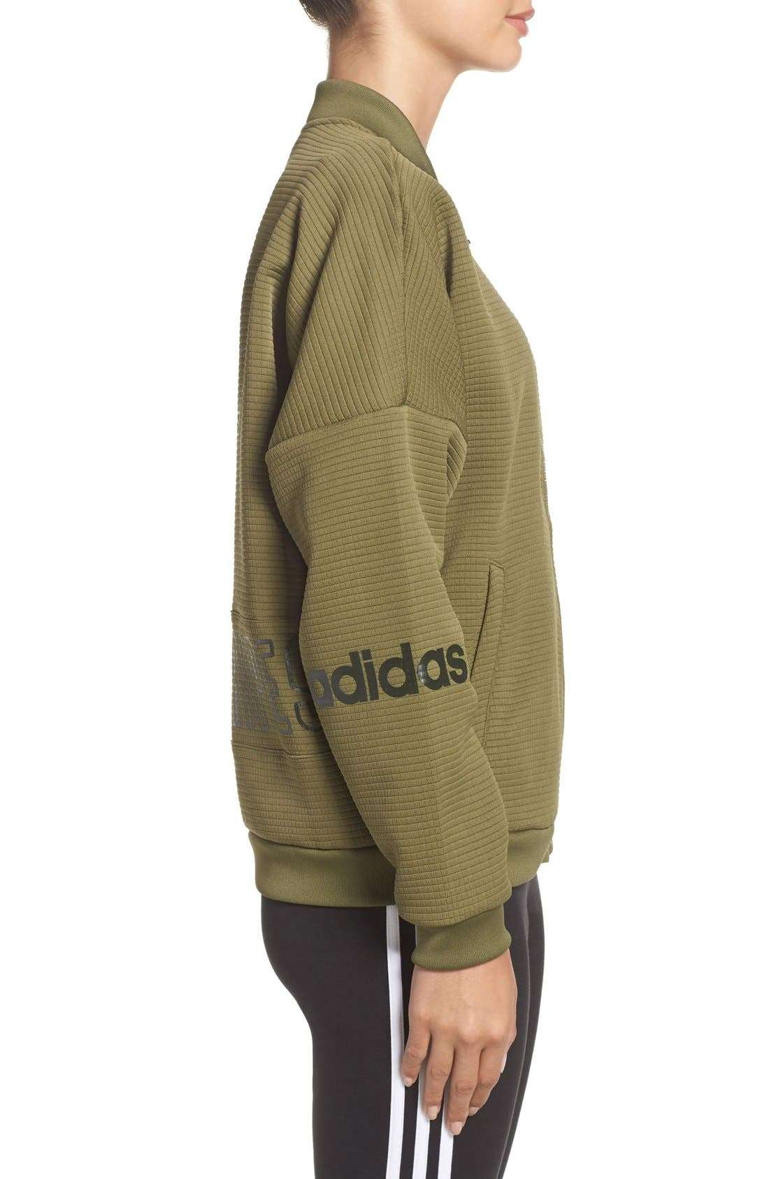Alternate Image 3  - adidas Originals 3-Stripes Bomber Jacket