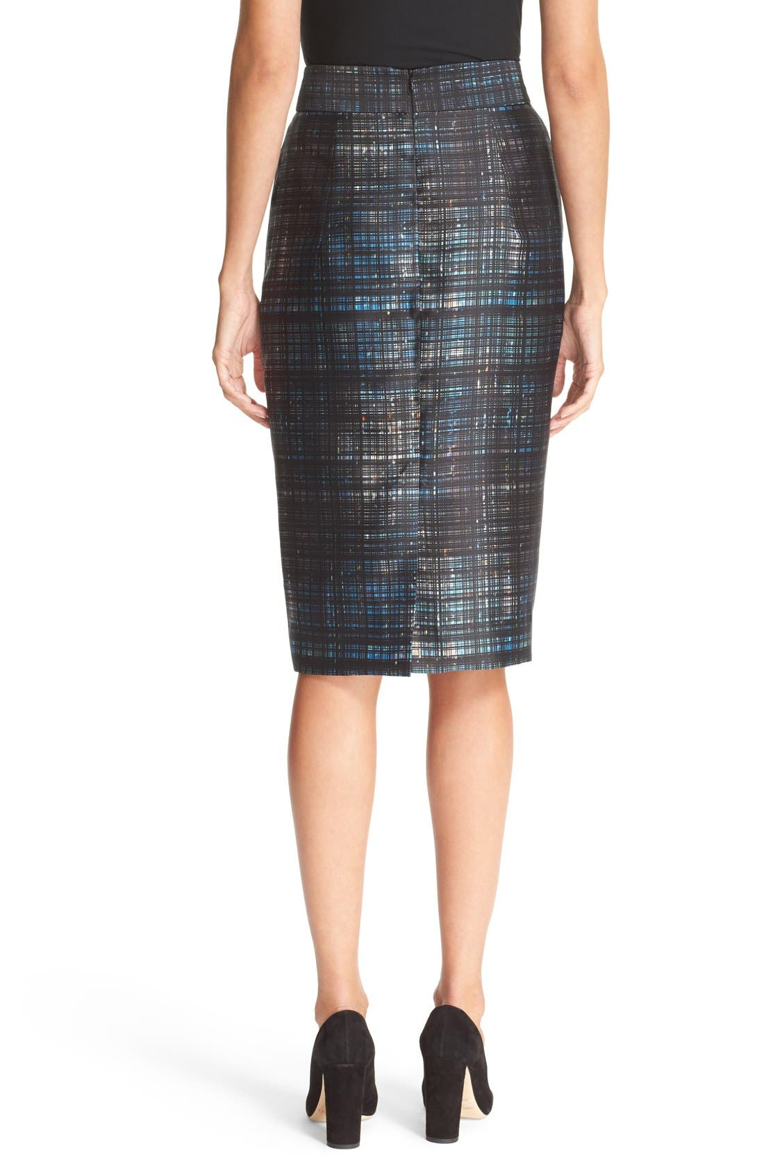 Alternate Image 2  - Milly Confetti Check Pencil Skirt