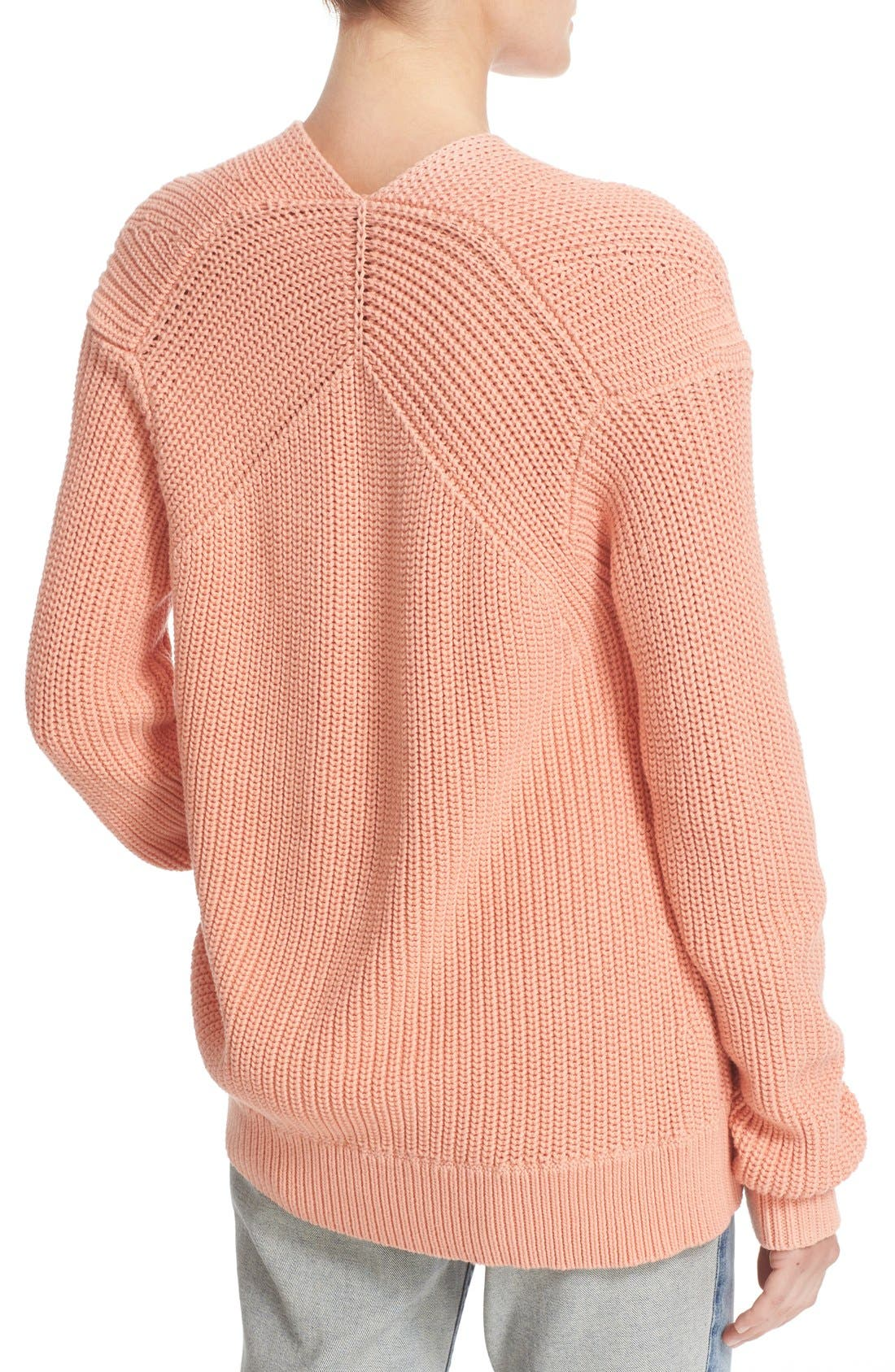Alternate Image 4  - T by Alexander Wang Knit Cotton Sweater