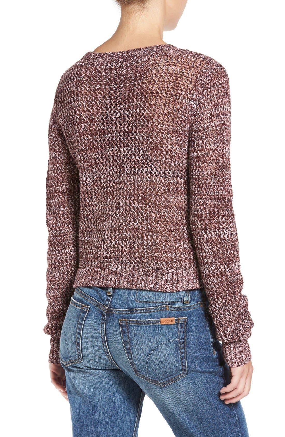 Alternate Image 2  - Joe's 'Reed' Crochet Cotton Sweater